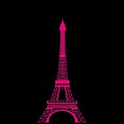 Hot Pink Eiffel Tower by BeachBumFamily