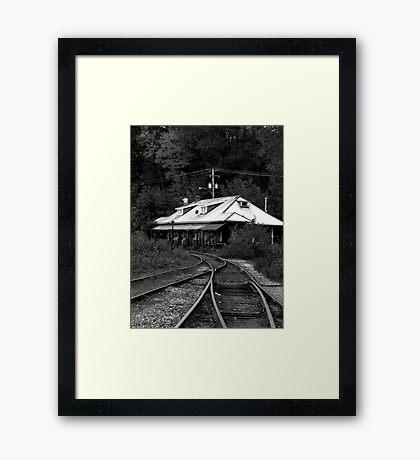 Diner by the tracks Framed Print