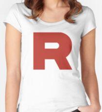 Team Rocket Logo Women's Fitted Scoop T-Shirt