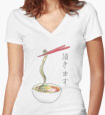 Ramen Women's Fitted V-Neck T-Shirt