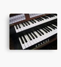 Rows of Keys - Section of Organ Keyboard Canvas Print
