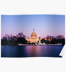 The United States Capitol, Dusk Poster