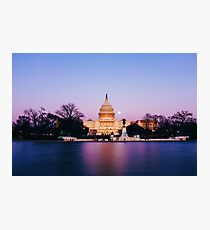 The United States Capitol, Dusk Photographic Print