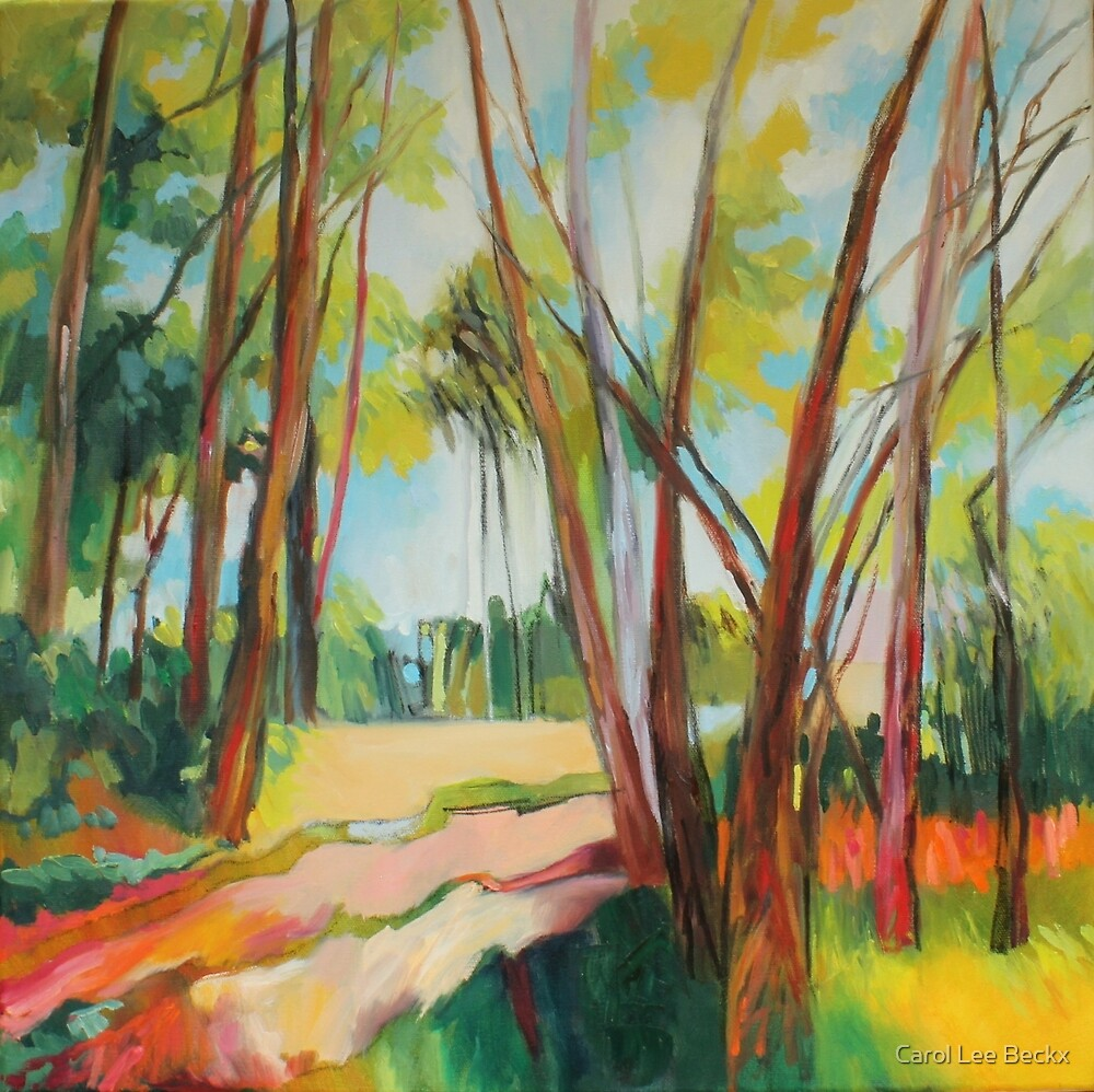 Light Through The Trees by Carol Lee Beckx