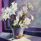 Orchids on the Window Sill by Carol Lee Beckx