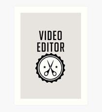 Video Editor Art Print