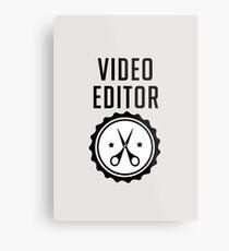 Video Editor Metal Print