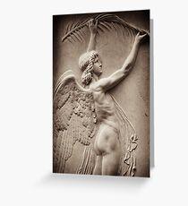 greek angel Greeting Card