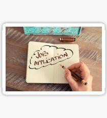 Motivational concept with handwritten text JOB APPLICATION Sticker