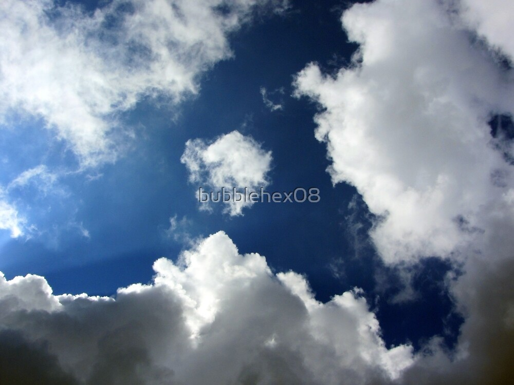 Blue sky or just a gap in the grey clouds? by bubblehex08