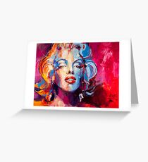 Marylin Monroe portrait Greeting Card