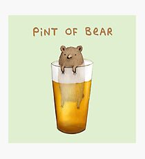 Pint of Bear Photographic Print