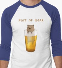 Pint of Bear Men's Baseball ¾ T-Shirt