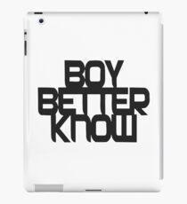 BOY BETTER KNOW iPad Case/Skin