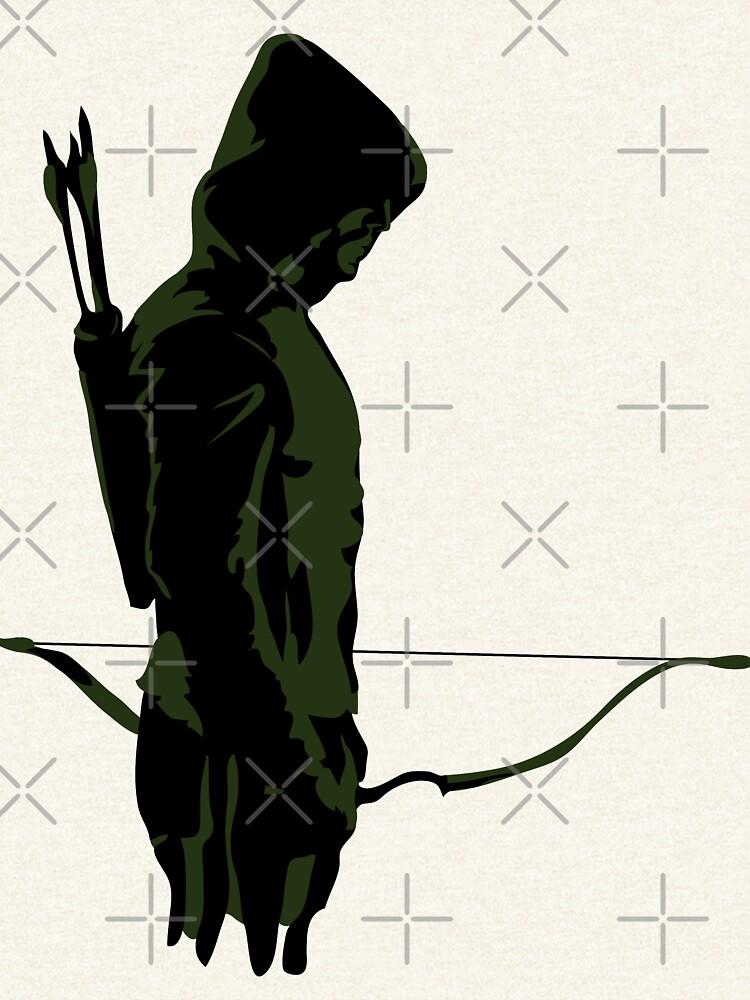 Green Archer with Arrow by jessannjo