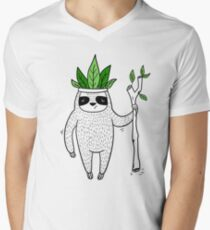 King of Sloth Men's V-Neck T-Shirt