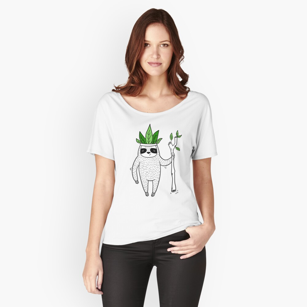 King of Sloth Women's Relaxed Fit T-Shirt Front