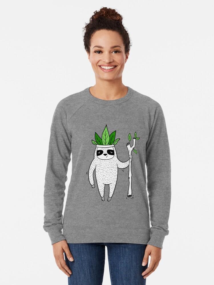 Alternate view of King of Sloth Lightweight Sweatshirt