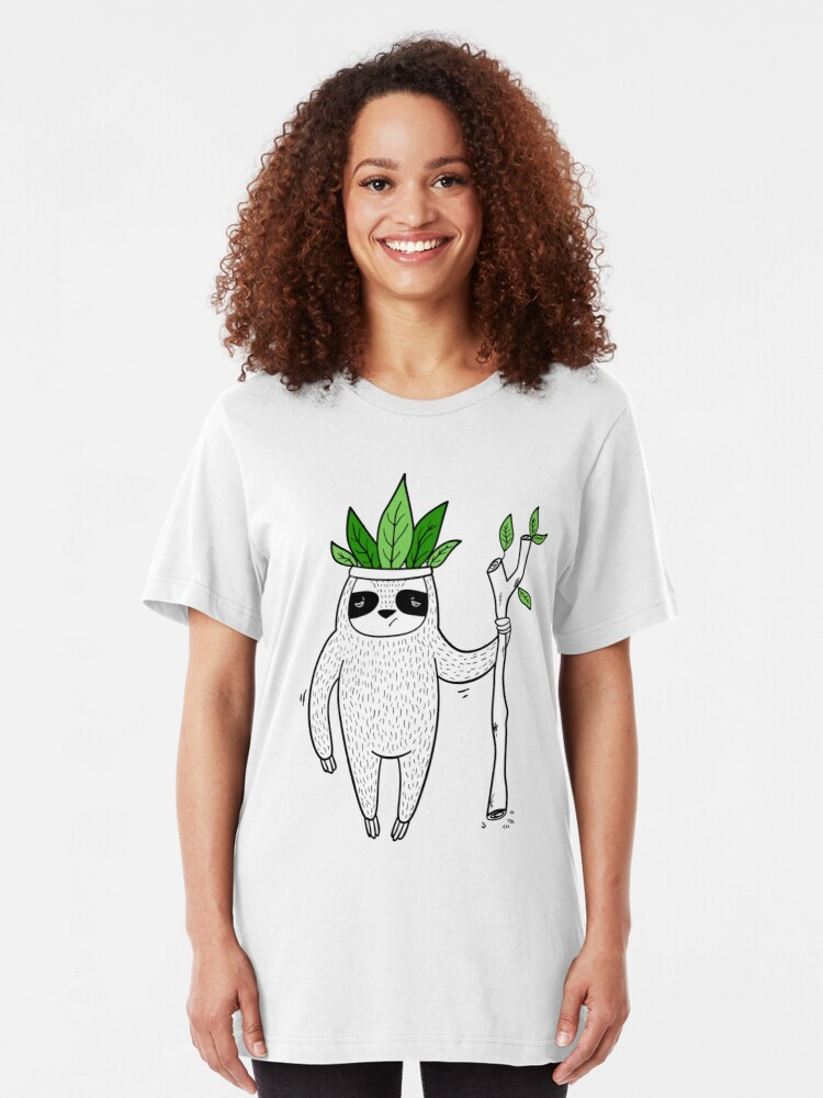 Alternate view of King of Sloth Slim Fit T-Shirt