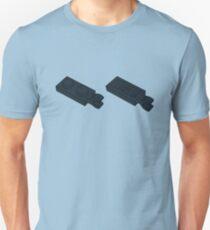 The Lego Black Plate 2X1 W-Holder, Vertical Unisex T-Shirt