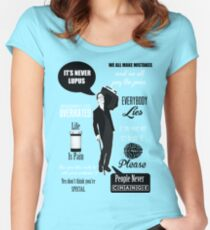 Dr House Montage  Women's Fitted Scoop T-Shirt