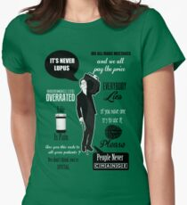 Dr House Montage  Women's Fitted T-Shirt
