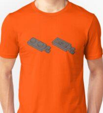 The Lego Dark Stone Grey Plate 2X1 W-Holder, Vertical Unisex T-Shirt