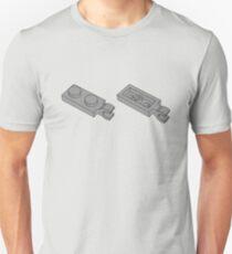 The Lego Grey Plate 2X1 W-Holder, Vertical Unisex T-Shirt