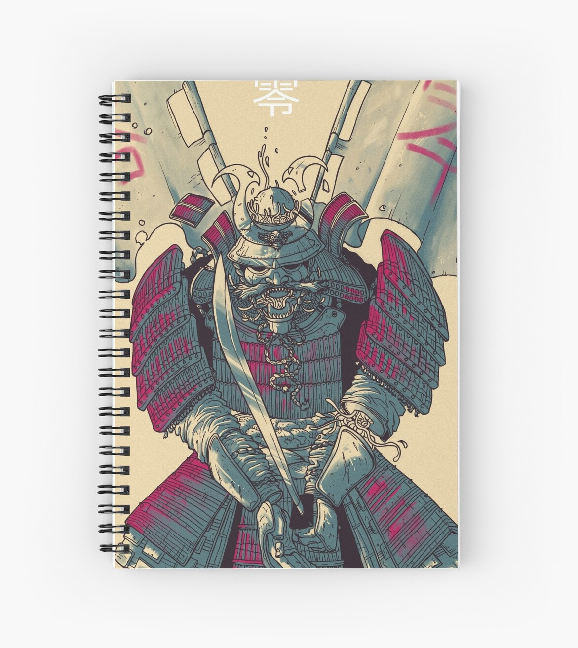 "Manga Samurai Spiral Notebooks By Jiggymiggy: ""Samurai"" Spiral Notebooks By Luca Marcenaro"