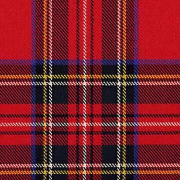 Red Tartan Fabric Design by lucylucy