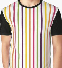Fruit Tree Stripe Pattern Graphic T-Shirt