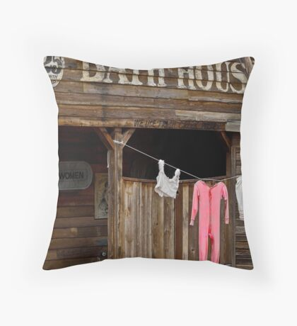 Bath house Throw Pillow