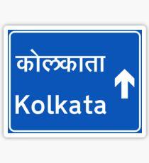 Calcutta (Kolkata), Road Sign, India Sticker