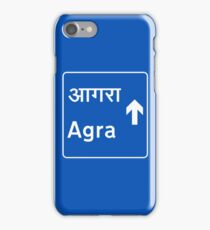 Agra, Road Sign, India iPhone Case/Skin