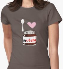 i love nutella Women's Fitted T-Shirt