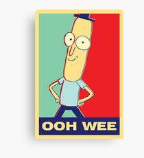 "Rick and Morty: Mr.PoopyButthole ""ooh wee"" Canvas Print"