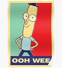 "Rick and Morty: Mr.PoopyButthole ""ooh wee"" Poster"