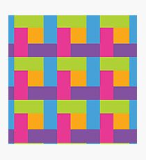 Bright Hue Block Pattern Photographic Print