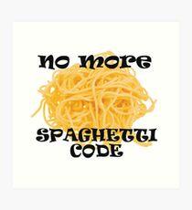 Spaghetti Code Art Print