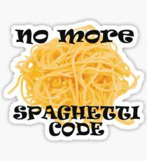 Spaghetti Code Sticker