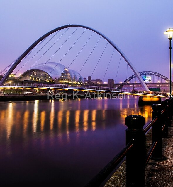Newcastle Bridges by Reg-K-Atkinson
