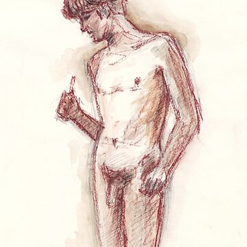 Study of a Nude Male by BarnabyEdwards