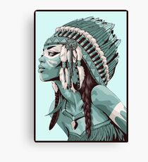 Native Americans  Canvas Print