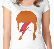 BOWIE FACE Women's Fitted Scoop T-Shirt