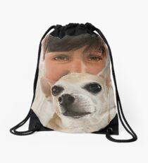 Max the adorable Chihuahua Drawstring Bag