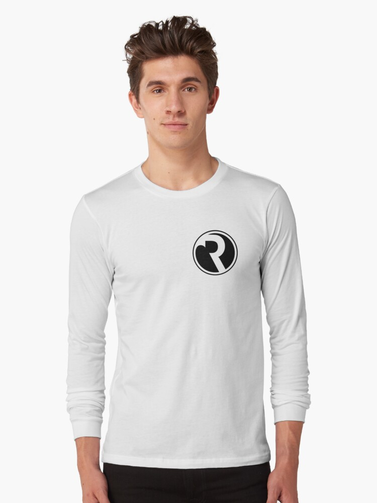 Refracted Logo Left Chest Long Sleeve T-Shirt Front