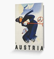 Austria Ski Greeting Card