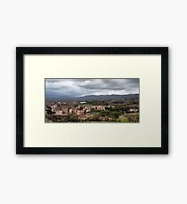 Arezzo From Above Framed Print