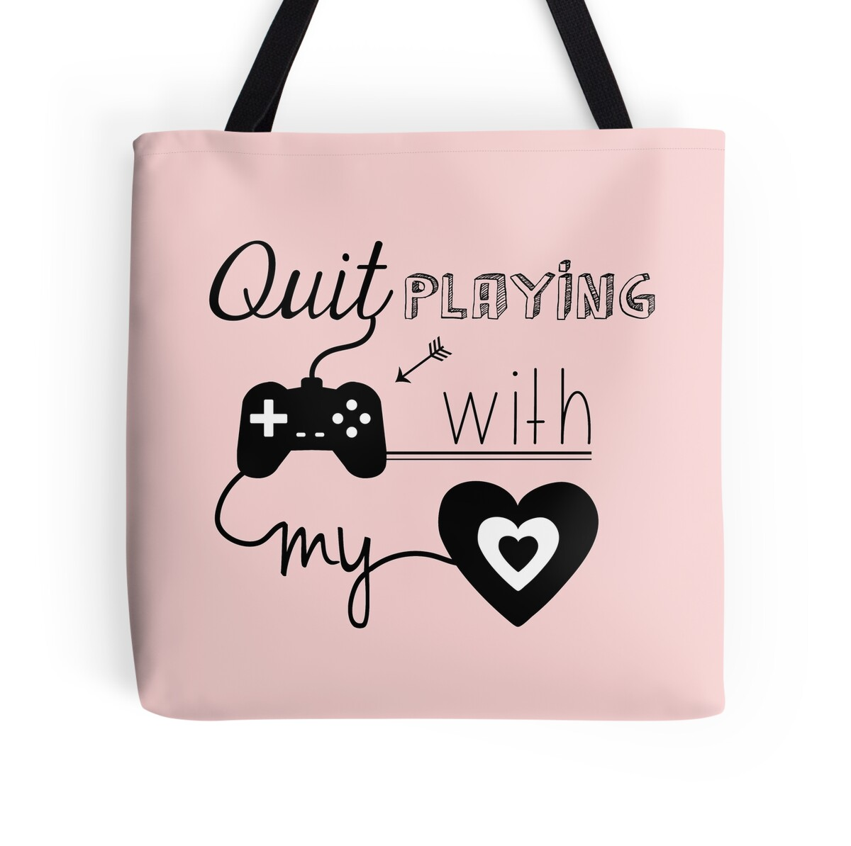 bsb quit playing games with my heart tote bags by. Black Bedroom Furniture Sets. Home Design Ideas