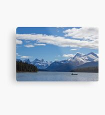 Mountains of Maligne Lake 1 Metal Print